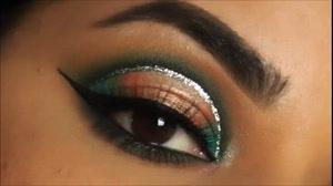 کلیپ آرایش چشم و ابرو + سایه چشم چند رنگ