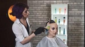 کلیپ جدیدترین روش  رنگ مو فانتزی + مدل رنگ مو شب تاب
