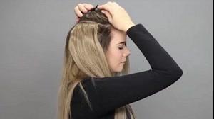 فیلم آموزش نصب صحیح اکستنشن مو درخانه