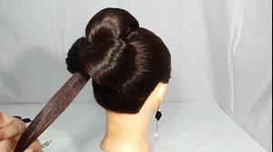 کلیپ شینیون ساده مو + شینیون مو مدل گل