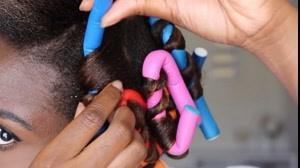 فیلم فر کردن مو با بیگودی اسفنجی + صاف کردن مو مجعد