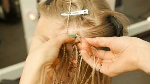 کلیپ آموزش اکستنشن  مو بافت آفریقایی برای مو کوتاه و روشن