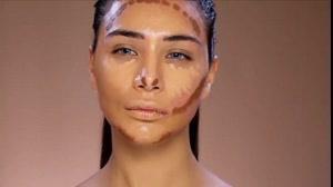 فیلم آرایش پوست پرجوش  و لک دار +کانتورینگ صورت