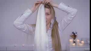 کلیپ بافت مو دو رنگ با اکستنشن مو