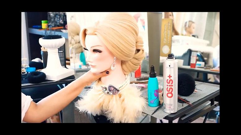فیلم آموزش شینیون مو  مناسب مو رنگ روشن