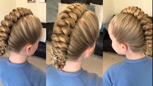 کلیپ  آموزش جدیدترین شینیون مو دخترانه با بافت مو
