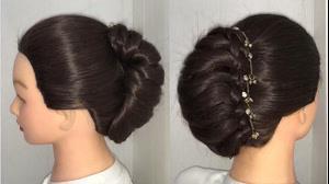 کلیپ آموزش شینیون با بافت مو + بافت حلزونی مو