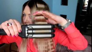 کلیپ موج دار کردن مو با دستگاه فر مو تفنگی