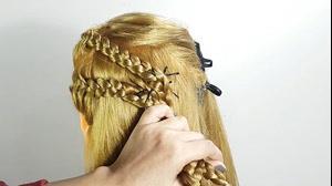 کلیپ آرایش ساده با بافت مو + مدل مو آسان