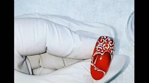 فیلم دیزاین ناخن با طرح های مختلف قلب