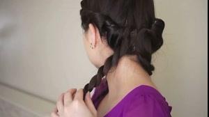 کلیپ بستن مو در خانه +مدل اروپایی سنتی