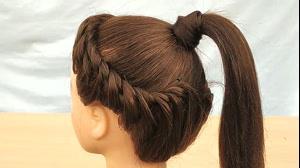 کلیپ بافت مو مدل تاج + بستن دم اسبی مو
