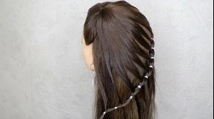 کلیپ شینیون  مو دخترانه + آرایش ساده مو