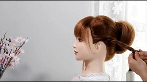 کلیپ آموزش شینیون مو مجلسی با بافت مو