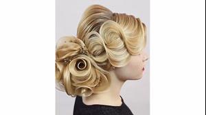 کلیپ شینیون مو  مدل گل رز + مو موج دار