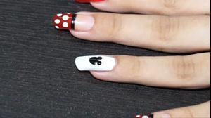 کلیپ دیزاین طرح میکی موس روی ناخن