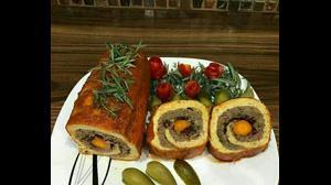 طرز تهیه رولت ميكس مرغ و گوشت بدون فر