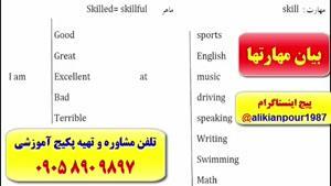 آموزش مکالمه ، گرامر کامل زبان انگلیسی