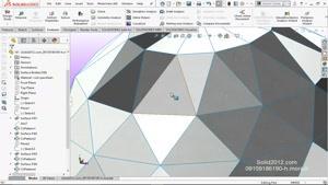 تمرین آموزشی سالیدورک فیلم مدلسازی پیشرفته solidworks