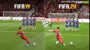 مقایسه گیم پلی بازی FIFA 19 با FIFA 20