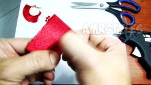 آموزش ساخت گوشواره حلقه ای با پارچه