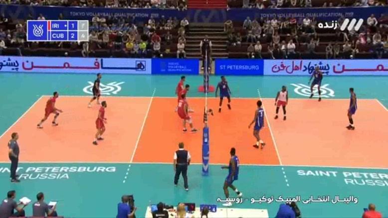 ست چهارم  والیبال ایران - کوبا