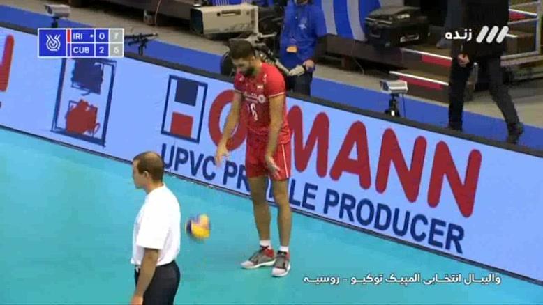 ست سوم  والیبال ایران - کوبا