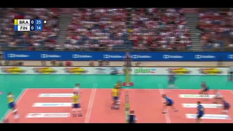 خلاصه بازی والیبال برزیل - فنلاند
