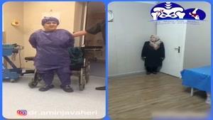 معاینه بیمار قبل و بعد از جراحی تعویض مفصل لگن سمت جپ