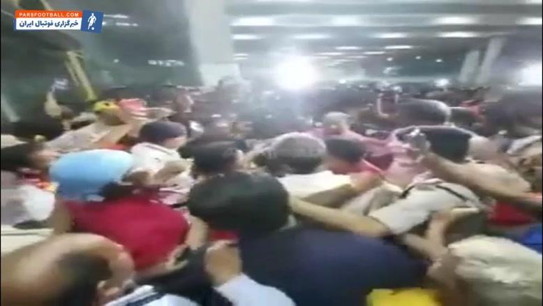 استقبال گسترده از مجید بشکار در فرودگاه کلکته