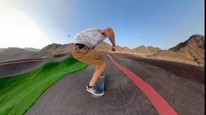 کلیپ فوق العاده زیبا اسکیت برد سواری همراه با فیلمبرداری 360 درجه