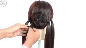 شینیون مو همراه با بافت