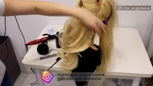 آموزش مدل شینیون باز مناسب موی بلند