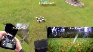 پرواز حرفه ای با کوادکوپتر WLTOYS Q393A/ایستگاه پرواز