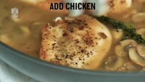 طرز تهیه خوراک قارچ و مرغ