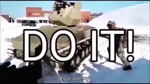 گرفتن گلوله شلیک شده با دست توسط سرباز روسی