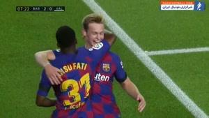 خلاصه بازی بارسلونا - والنسیا