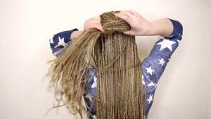مدل مو با بافت آفریقایی