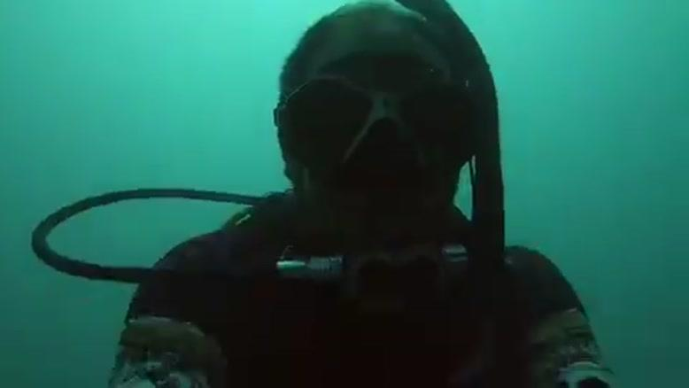 تلاش برای نجات لاکپشت گیرافتاده توسط غواصان ایرانی 👌❤️