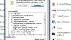 نمایش سریع کلیه ی فایلهای مخفی در ویندوز ۷ و ۸