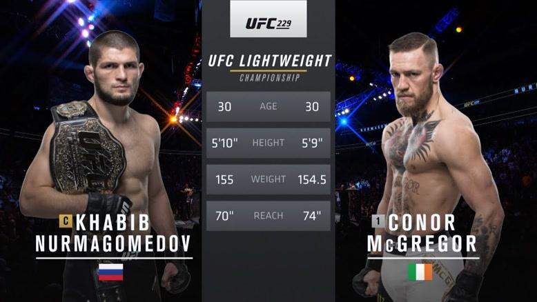 UFC 242: مبارزه آزاد بین کانر مک گریگور در مقابل حبیب نورماگمدوف