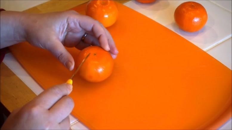 آموزش چند نوع حکاکی روی نارنگی
