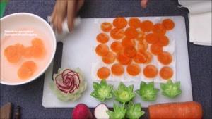 آموزش تزیین چند نوع گل سبزیجات