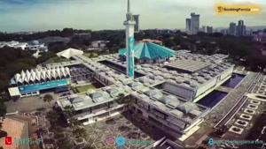 مسجد نگارا در مالزی، تلفیق معماری ایران، هند، اسپانیا و ترکیه