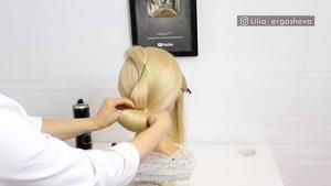 آموزش شینیون موهای بلوند