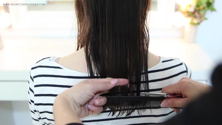 آموزش نوک گیری موهای بلند