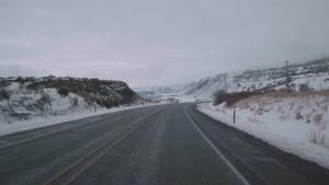 رانندگی در برف در واشگنتن شرقی