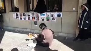 تارنوازی غمگین دانشجوی دانشگاه تهران برای پسرخاله اش که در هواپیما بود