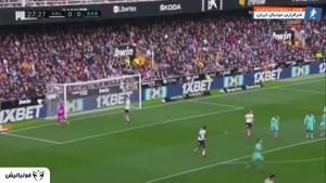 خلاصه بازی والنسیا 2-0 بارسلونا