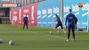 تمرین بارسلونا زیر نظر سرمربی جدید